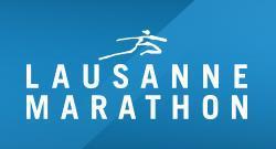 Lausanne marathon logo bleu